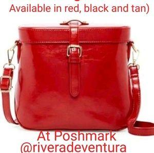 SALE Red cross body Bag